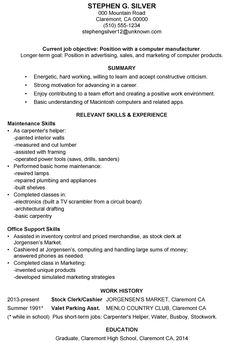 The Best Example Summary For Resume Resume Example
