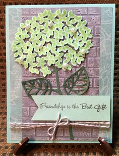"8-16""Friendship is the best gift""  dusty blue greens with lots of sparkle and shine. Twine, pearls, wink and layers on layers"