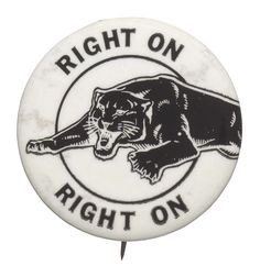 Black Panther Party button. Collection of the Smithsonian National Museum of African American History and Culture.