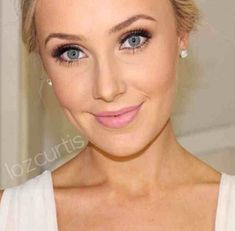 Simple wedding makeup. Dont know about lipstick thoughVisit: inspirational-wedding.com for more ideas