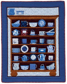 Cups and Saucers, paper-pieced kitchen quilt design by Maaike Bakker | Martingale | December 2014