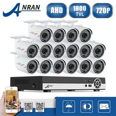 606.99$  Watch here - http://aliozt.worldwells.pw/go.php?t=32757543228 - New Listing ANRAN 16CH 1080N AHD DVR 1800TVL Night Vision CCTV System 16pcs 720P Security Cameras Video Surveillance Kit