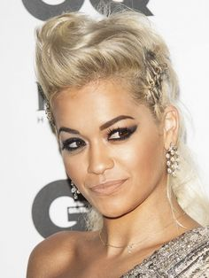 Rita Ora's twisted braid is fierce, eye-catching, and gorgeous. // #Hair
