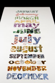 Calendar Design & Illustration - Mary Fama