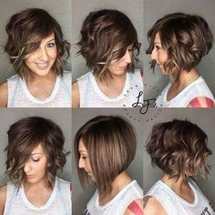 Wavy Bob hairstyles you have to see - New Site - Wavy Bob hairstyles you have to see – New Site Wellige Bob-Frisuren, die man gesehen haben muss – – Inverted Bob Hairstyles, Curly Bob Hairstyles, Straight Hairstyles, Curly Hair Styles, Hairstyles 2018, Hairstyle Short, Pretty Hairstyles, Bob Hairstyles How To Style, Short Bob Updo