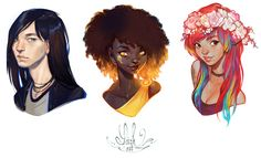 bust commissions by loish on DeviantArt
