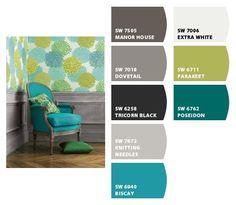 COOL. Grey, teal & green   FollowPics