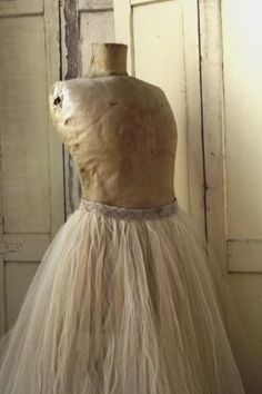 Lovely Old Dress Form.  Tattered and worn...