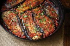 Meatless Monday: Turkish Eggplant Casserole with Tomatoes (Imam Bayildi) from food blogger Feed Me Phoebe.