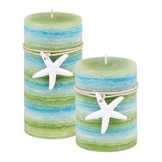 SONOMA lifestyle Beachside Pillar Candles/ paint flameless candle set shades of blue, add starfish with colored twine Coastal Homes, Coastal Decor, Coastal Living, Beach Bungalows, Sonoma Goods For Life, Love Home, Beach Cottages, Beach Fun, Beach Themes