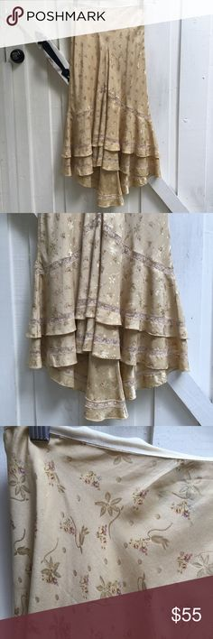 vintage ralph lauren floral and lace skirt vintage RL. floral print with lace and layered frills. in perfect condition other than the label which has come off on one side. size 4. a beautiful piece! 🌸 I am professional ballerina making some extra income. I am open to offers/negotiations on prices, just keep in mind poshmark does take 20%. I am not responsible for wrong fit/not reading the descriptions. ask questions if you aren't sure, i respond right away. thank you for shopping! 🌸 Ralph…