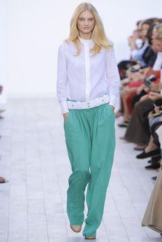 Chloe Spring 2012, LOVE colored pants (via @fashiongonerogue http://fashiongonerogue.com/chloe-spring-2012-paris-fashion-week/)
