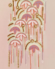Tambour couture beading design and creation by karen Torrisi beading. #tambour#beading#luneville