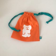 Cute Bags, Stop Motion, Drawstring Backpack, Palette, Backpacks, Embroidery, Orange, Color, Pouches