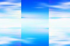 Nieuw in mijn Werk aan de Muur shop: Abstract licht blauwe zeegezicht