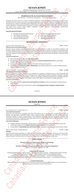 Pharmaceutical Sales Resume Examples - Http://Www.Resumecareer