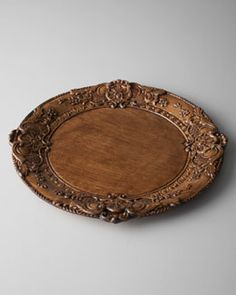 H6Q5L Sezzatini Baroque Wooden Charger Plate & Wooden Charger Plates by BETIS CRAFTS INC at Horchow. | Antique ...