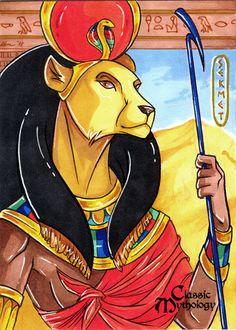 Sekhmet (Studio Perna Classic Mythology Trading Card) by Kat Laurange