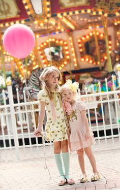 Carousel Dress in Vintage Pink (on right, available in 12m.)