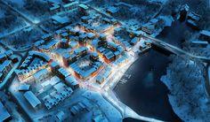Exterior   Housing   Night   Urban Development   Waterfront   Winter   2015