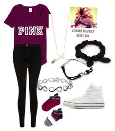"""""""Untitled #81"""" by marissa-moore-i on Polyvore featuring Ice, Current/Elliott, Converse, NLY Accessories, Zoë Chicco, women's clothing, women's fashion, women, female and woman"""