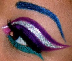 Pretty cool eye makeup look for clubbing or something! The clearly defined shapes in this look show how talented the Queen of Blending is!