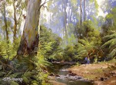 Landscape Art, Landscape Paintings, Landscape Photography, Watercolor Paintings, Australian Painting, Australian Art, Long Painting, Australia Landscape, Royal Art