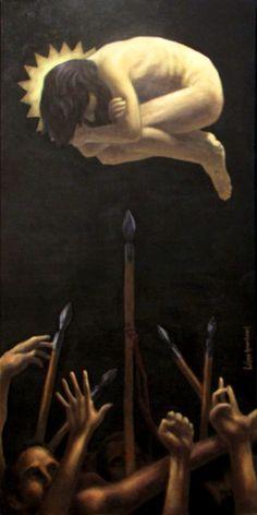 """- """"Inalcanzable"""" (2010). Serie inspirada en el disco """"The Empyrean"""" de John Frusciante. - """"Unreachable"""" (2010) Inspired by John Frusciante's album """"The Empyrean"""" . . . . #arte #art #artwork #pintura #painting #dibujo #drawing #ilustracion #illustration #diseño #design #diseñografico #graphicdesign #oilpainting #oleo #sketch #sketchbook #doodle #johnfrusciante #frusciante #theempyrean #redhotchilipeppers"""