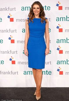 Perfect design: Elizabeth Hurley proved it once again as she was the guest of honour at the Fair Ambiente in Berlin, Germany on Monday