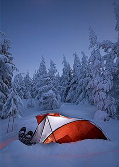 Snow Camping with The North Face Mountain 25 Tent and The North Face Dark Star -20 Sleeping Bag