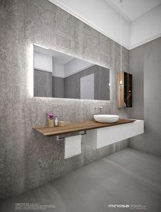 Light grey bathroom, floor & wall