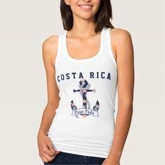 Women's Costa Rica Floral Anchor Pura Vida Tank SOLD, thank you to the customer in Kentucky