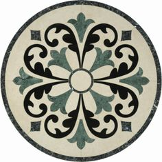 cheap decorative marble waterjet floor tile