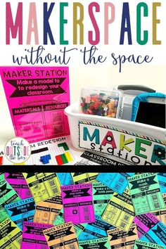 40 LOW PREP Makerspace stations for K-5th Grade, emphasizing skills in math, science, engineering, art, and music | Includes QR code resources and planning/reflection templates | Elementary Makerspaces | Elementary STEM Activities