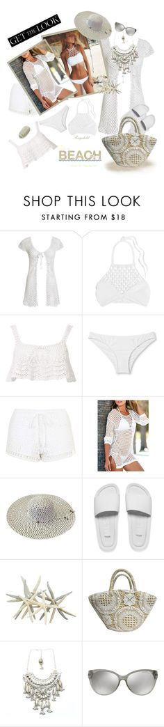 """""""Get The Look: Swimsuit Edition ( Bikini )"""" by ragnh-mjos ❤ liked on Polyvore featuring Beauty & The Beach, Mikoh, Topshop, Melissa, Child Of Wild, Michael Kors and CVC Stones"""