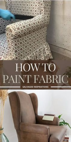 Painting Fabric Furniture, Paint Upholstery, Upholstered Furniture, Fabric Painting, Chalk Paint Fabric, Painting Old Chairs, Furniture Fix, Upcycled Furniture, Furniture Design