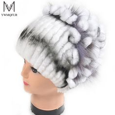 Winter fur hat for women real rex rabbit fur hat with silver fox fur flower knitted beanies 2017 new sale high-end women fur cap. Yesterday's price: US $59.98 (48.72 EUR). Today's price: US $25.19 (20.52 EUR). Discount: 58%.