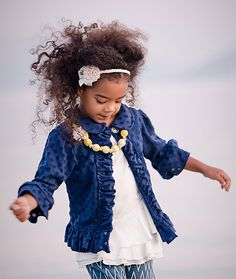Persnickety Clothing Navy Blue Stella Jacket. Lani would look so cute in this!