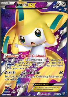 Ability: Stellar Guidance When you play this Pokémon from your hand onto your Bench, you may search your deck for a Supporter card, reveal it, and put it into your hand. Shuffle your deck afterward. [M][C][C] Hypnostrike: 60 damage. Both this Pokemon and the Defending Pokemon are now Asleep.