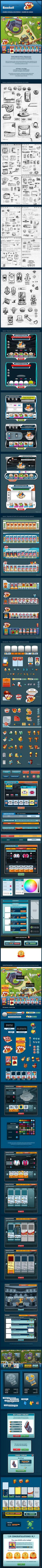 Baseball-Social-Game---GUI-Design-on-Behance