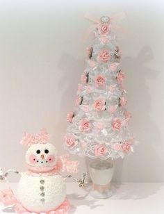 Shabby Chic Lace Christmas Tree