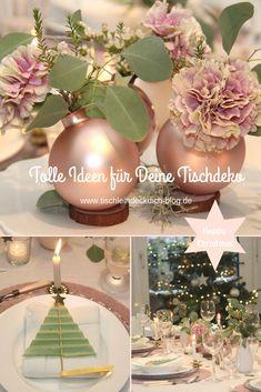 Pink Christmas, All Things Christmas, Christmas Eve, Christmas Bulbs, Christmas Fashion, Pink Table Decorations, Decoration Table, Christmas Table Decorations, Holiday Decor