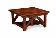 B&O Railroad© Trestle Bridge Coffee Table, Square... in Old World, Windswept
