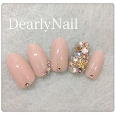 Fancy Nails Designs, Heart Nail Designs, Nail Art Designs Videos, Glitter Gel Nails, Cute Acrylic Nails, Rhinestone Nails, Bling Nails, Nail Atelier, Diamond Nail Art
