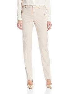 NYDJ Women's Sandrah Slim Pants In Refined Stretch, Tan Memoir, 10 -- Click on the image for additional details.