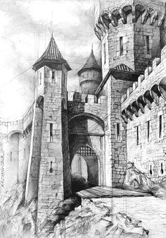 manimiamy - 0 results for architecture Architecture Concept Drawings, Architecture Sketchbook, City Architecture, Landscape Pencil Drawings, Pencil Art Drawings, Art Drawings Sketches, Fantasy Castle, Fantasy Art, Building Sketch