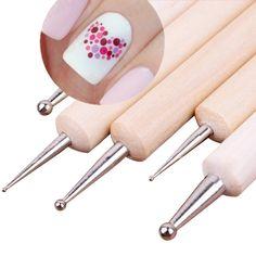 5Pcs 2 Way Wooden Dotting Pen Marbleizing Tool Nail Art Dot Dotting Tools #14198 -  http://mixre.com/5pcs-2-way-wooden-dotting-pen-marbleizing-tool-nail-art-dot-dotting-tools-14198/  #DottingTools