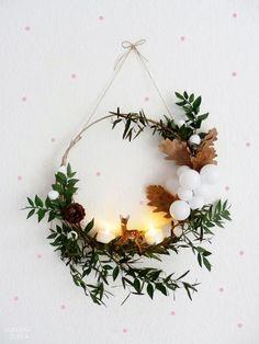 Le weekend dernier, S et moi sommes allés nous balader dans les bois afin de ramener de quoi confectionner une couronne de Noël ♥ E...