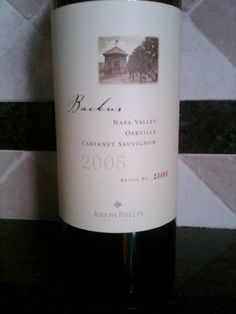 """2005 Joseph Phelps """"Backus"""" Cabernet Sauvignon. Very hard to find and acquire; if you do/can its well worth the hunt."""