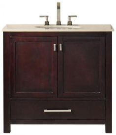 I like the white version with black top. Maddox Vanity - Bathroom Vanities - Bath | HomeDecorators.com